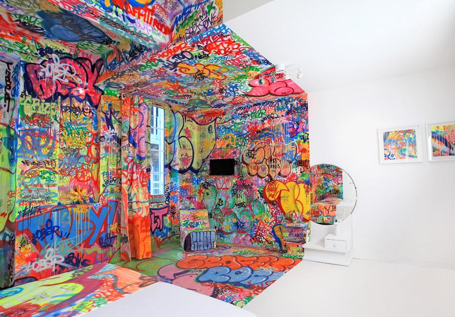 Panic room bigaddict - Bedroom wall graffiti ideas ...
