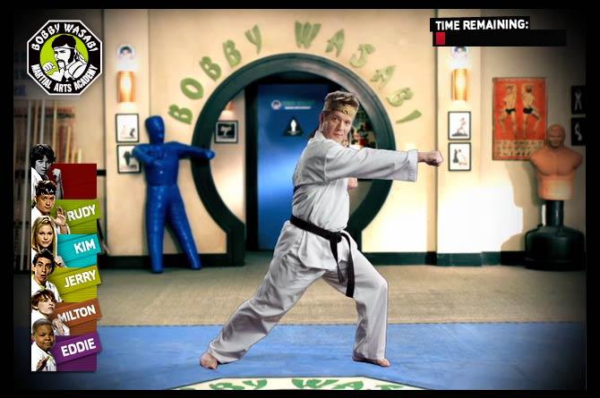 Kickin' It - Bobby Wasabi Academy - Ben Schoer Design
