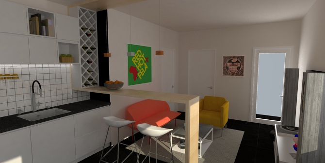 3d interiors ull toc for Model agency apartments